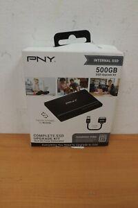 """PNY 500GB 2.5"""" SATA III Internal SSD SSD7CS900-500KIT-RB Upgrade Kit BRAND NEW"""