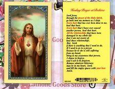 Healing Prayer at Bedtime - Laminated  Holy Card