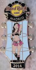 Hard Rock Cafe MADRID 2014 Go-Go Girl Series PIN Cage Dancer GUITAR HEAD #80020