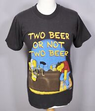 Vintage The Simpson's T Shirt 10 12 Black Top Retro Duff Homer Y2K 2000 90s 00s