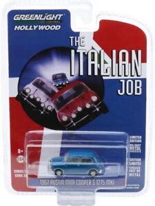 Mini Cooper S 1275 Blue - The Italian Job 1969 1:64 (Greenlight 44880A)
