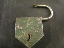 VINTAGE ANTIQUE PADLOCK - MADE IN FRANCE - COLLECTIBLE LOCK