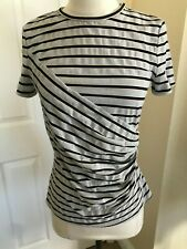 Per Se Promise Gathered Top (Silver and Black) Size S New with Tags