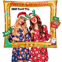 Merry Christmas Santa Claus Inflatable Photo Frame Selfie Booth Props Family Fun