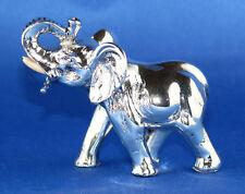 BONGELLI Skulptur Figur Elefant echt Silber versilbert Zertifikat made in Italy