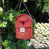 Neuheit Rot Buchstabe Briefkasten Vogelhaus Nestbau Klein Gartenvögel Royal Mail