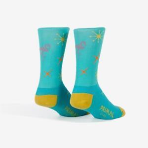 Primal Cycling Socks. Retro Flamingo Bike Socks. Advanced sports fabric. NEW