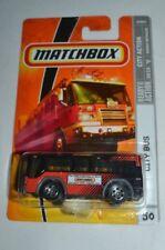 2009 MATCHBOX CITY ACTION CITY BUS RED & BLACK # 50 VHTF !!
