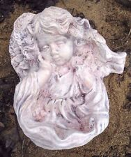 """angel girl poly plastic concrete plaster mold mould 13.5"""" x 11"""""""
