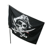 Halloween 3x5FT Skull and Crossbones Sabres Swords Jolly Roger Pirate Flags HG