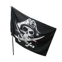 Large Skull & Cross Crossbones Sabres Swords Jolly Roger Pirate Flags 3x5FT  FO