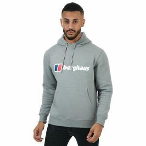 Men's Berghaus Classic Logo Pullover Hoodie Sweatshirt in Grey