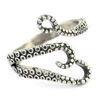 Neue Frauen Männer Retro Titan Stahl Gothic Octopus Finger Open Ring Einstellbar