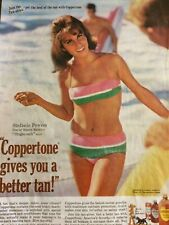 Stefanie Powers, Coppertone Tanning Lotion, Full Page Vintage Print Ad