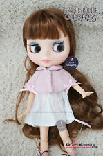 Cape Dress for Pure Neemo Blythe, Pullip - 30cm Dolls, Azone shirt Pink Opera