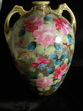 Large Hand Painted Nippon Vase