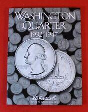 Partial Set of Washington Quarters 1932-1947 H.E Harris Folder Book 14 coins WQ6