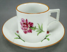 Meissen Marcolini Period Hand Painted Pink Carnations Coffee Can Circa 1774-1817