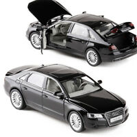 Audi A8 Diecast Model Car Toy Collection Luminous Pullback Black Xmas Gift