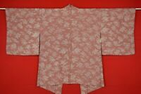 Vintage Japanese Kimono Silk Antique BORO HAORI Kusakizome Dyed/YB41/450