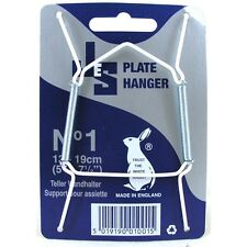 WIRE PLATE HANGERS (WHITE) SMALL SIZE PLATE 13-19cm NEW