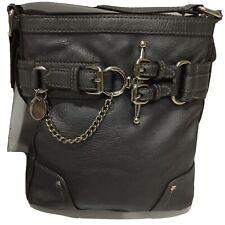"""Chaps Raplh Lauren Metallic Crossbody Bag Equestrian Style 10""""x9"""""""