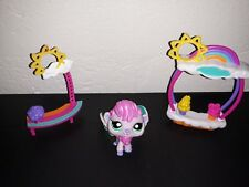Littlest Pet shop LPS #2725 #51899 Frosty Flair Fairy + Playset pieces