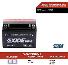 BATERIA EXIDE ETX9-BS 12v 8 AH | ytx9bs | ptx9bs | dtx9bs | btx9bs ENVIO GRATIS