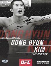 Dong Hyun Kim Signed 8.5x11 Photo BAS Beckett COA Stun Gun UFC Promo Autograph