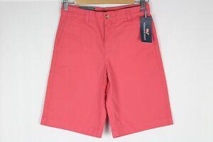 Vineyard Vines Boys Solid Breaker Shorts Chino Jetty Red 3H0187