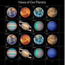 Views of our Planets USPS stamp sheet Mint condition