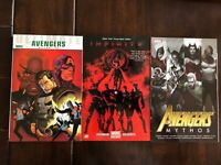 Avengers Lot of 3 Trade Paperbacks-  Infinity, Mythos and Ultimate Avengers- NM