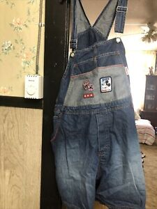 MAIN STREET BY DISNEY 22W/24W  MICKEY OVERALLS SHORTS