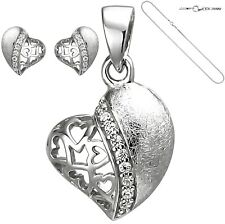 ❤️ Heart Amulet Necklace Studs 925 Silver Heart Necklace Women Necklace Gift