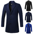 Fashion Mens Casual Coat Winter Long Trench Coat Overcoat Warm Slim Jacket XS~XL