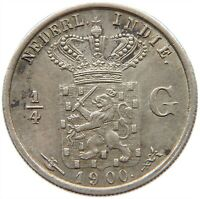 NETHERLANDS EAST INDIES 1/4 GULDEN 1900 #s16 867