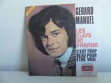 GERARD MANUEL Les clefs du paradis V 45 27014