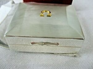 Vintage Perfect Omega Silver Watch Box with 14k ladies watch inside
