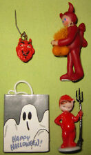 Halloween Dollhouse Miniatures Bundle of 4