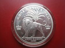 East India Co 1830 King William IV Aluminum Proof Pattern Crown Coin - Lion