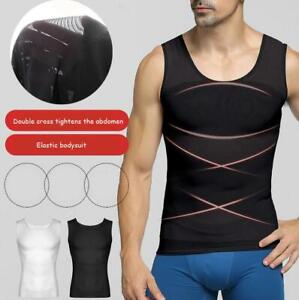 Men Compression Shirt Slimming Body Shaper Vest Tank  Abdomen Belly Belt Corset