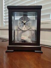 Bulova Empire Anniversary Solid Wood Espresso Finish Mantle Clock B1534