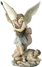 "11.25"" Archangel Michael Statue Figurine Religious San Saint Angel Miguel"