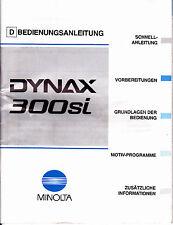 Minolta Dynax 300si Originale Bedienungsanleitung N.300