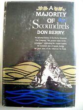 Don Berry--A MAJORITY OF SCOUNDRELS 1st ed 1st ptg HCDJ Rocky Mountain Fur Co.