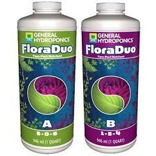 General Hydroponics FloraDuo A & B 1 Quart 32oz ea. - gh flora duo nutrients