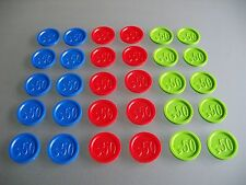 Pfandmarken Wertmarken Event Einkaufswagenchips mit einer ,- 50 Gravur Ekw 08