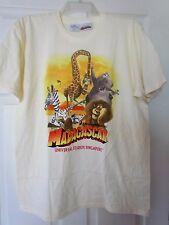 Universal Studios Singapore NEW Adult LARGE T-shirt MADAGASCAR yellow dreamworks