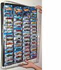 Hot wheels Display Case (black) for carded cars w Dust Cover for up to 52 cars