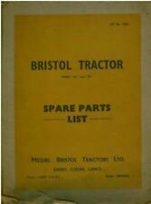 BRISTOL CRAWLER TRACTOR - MODEL 20 & 22 PARTS MANUAL